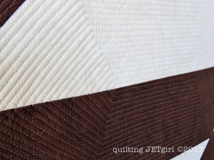 Combinatorics Mini Quilt - Quilting Detail