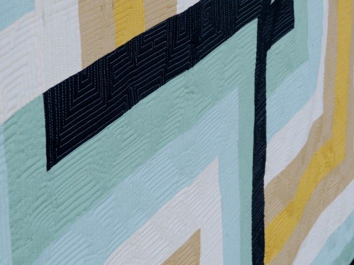 Digital Wave - Quilting Detail