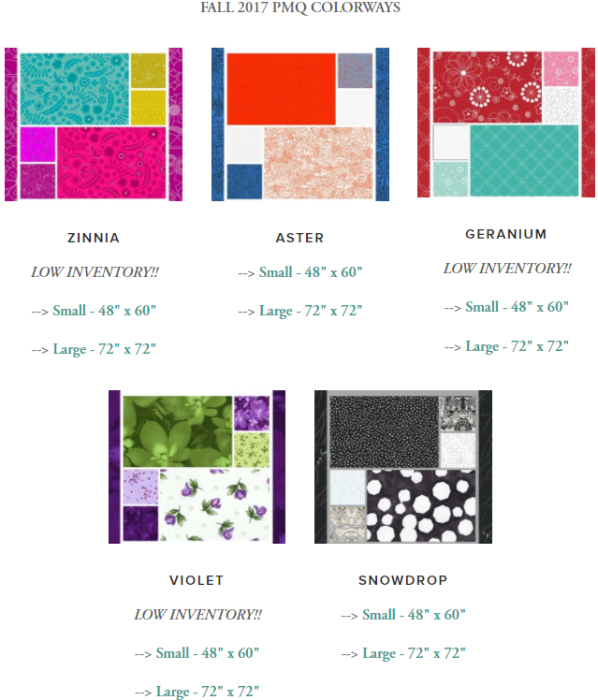 Puzzle Mystery Quilt Colorways