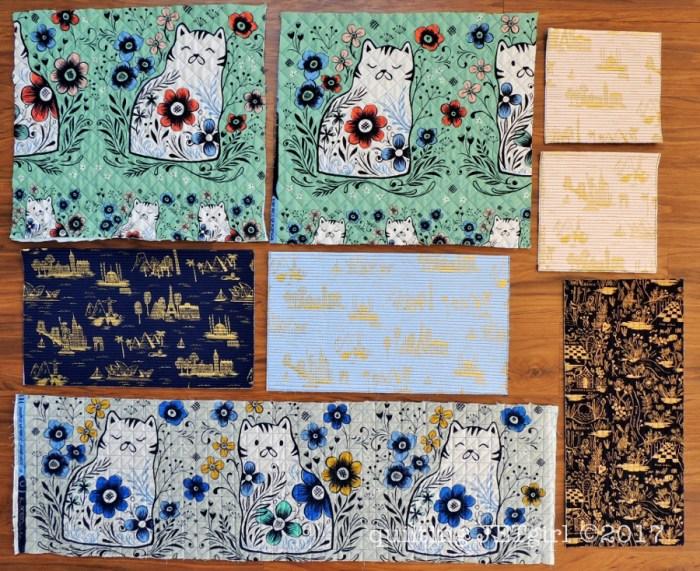 Quilted Weekender Bag Panels - Backings
