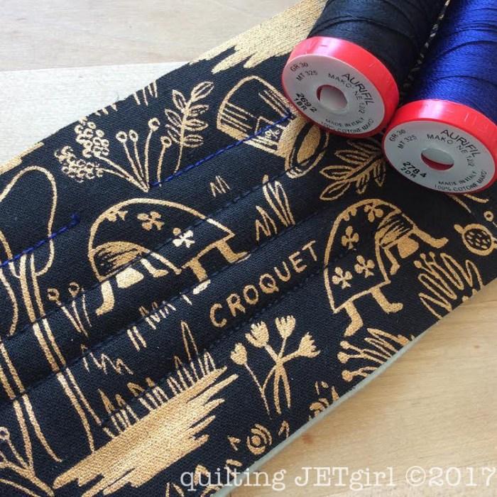 12wt Aurifil Thread and Quilting Sample