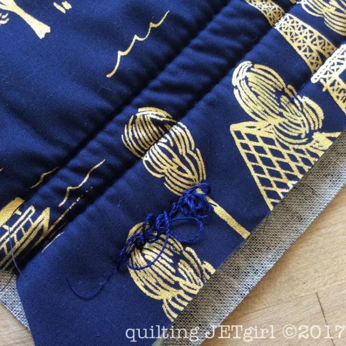 12wt Aurifil Thread and Test Quilt Sandwich - Backing
