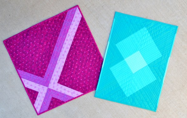 Cross Check and Single Burst Mini Quilts