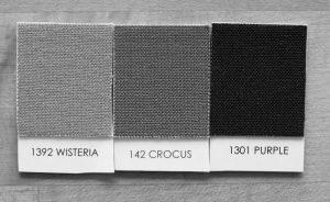 Kona Wisteria, Crocus, and Purple in Black and White