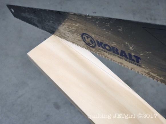 DIY Quilt Ladder - Step 4 - Cut Angles