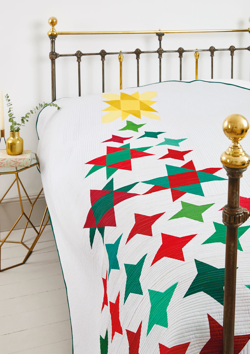 Mod Star Tree in Issue 53 of Love, Patchwork & Quilting