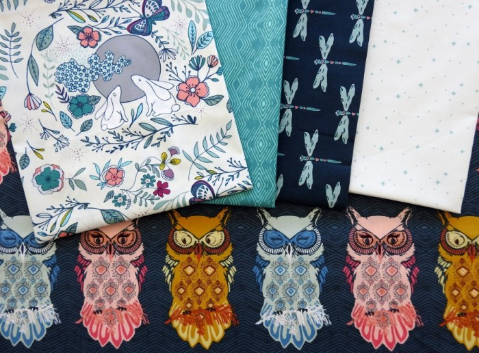 Fabrics from Nightfall by Maureen Cracknell for Art Gallery Fabrics