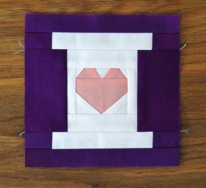 November Honey Pot Block - Heart on a Spool