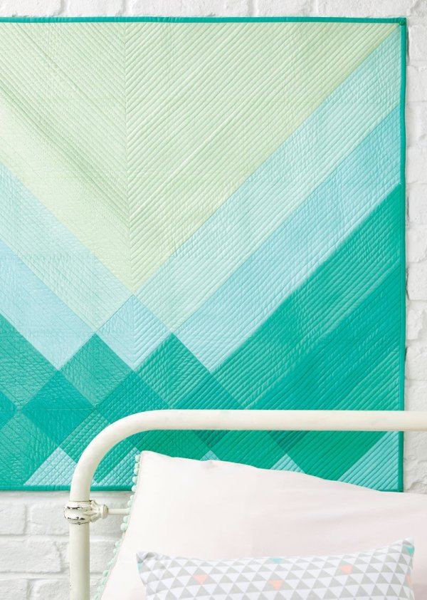 Refraction in Issue 59 of Love, Patchwork & Quilting (photo courtesy of LP&Q)