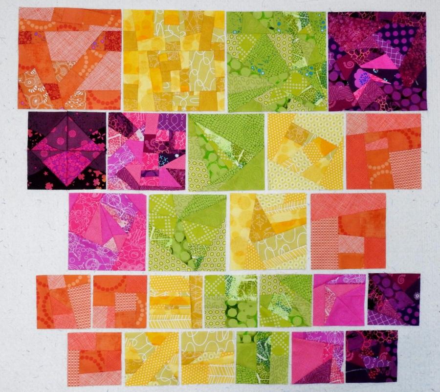 Murrina - Improv Blocks Pieced