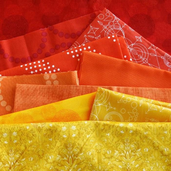 Sunset Mini Mini Quilt - Fabric Pull