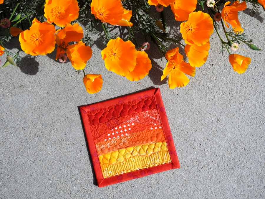 Sunset Mini Mini Quilt {Patreon Reward}