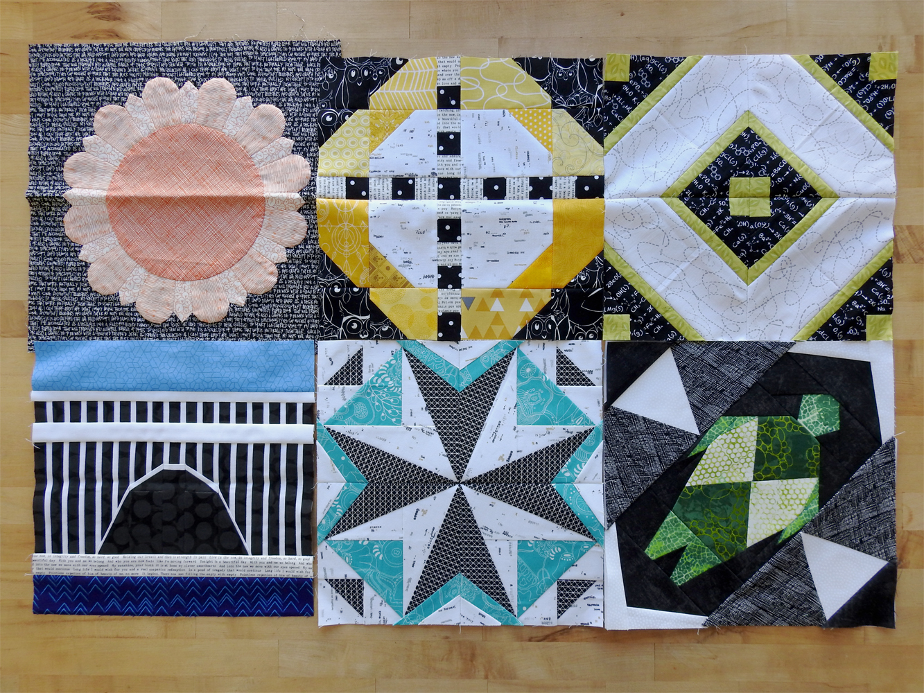 2018 Aurifil BOM Blocks Through June