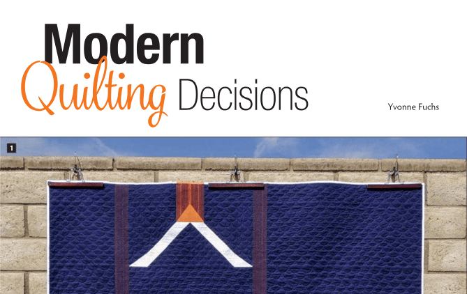 Modern Quilting Decisions {Machine Quilting Unlimited}