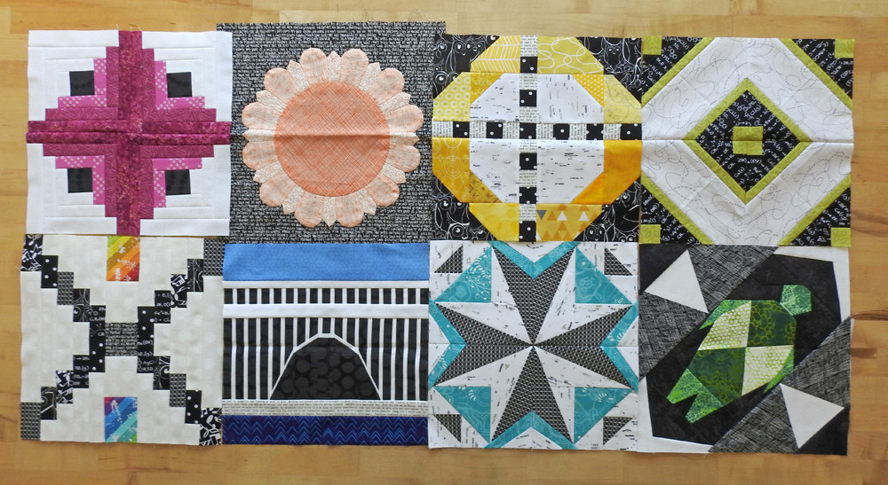 2018 Aurifil BOM Blocks Through August