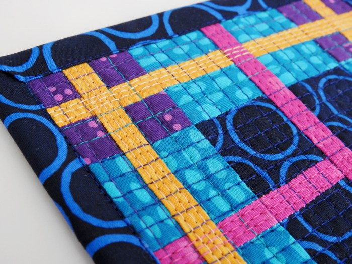Plaid Mini Mini Quilt - Quilting Detail