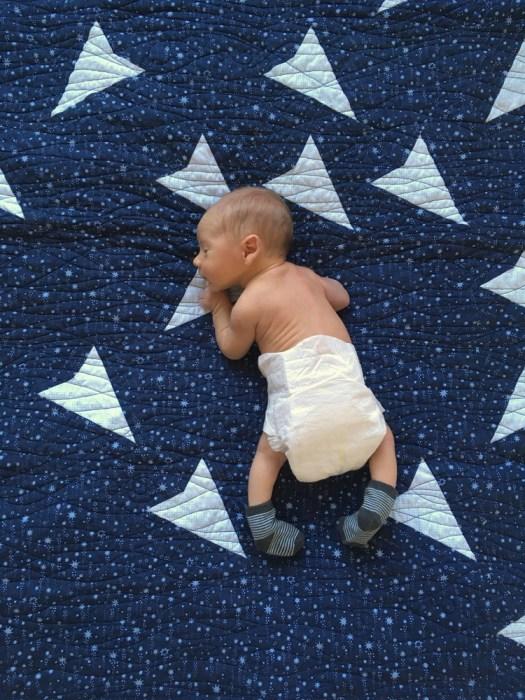 Combinatorics Baby Quilt - In Use