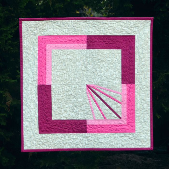 Diffraction Block Baby Quilt by Cheryl Brickey