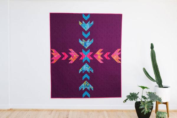 Flight Path Quilt by Quilting Jetgirl for Pattern Drop