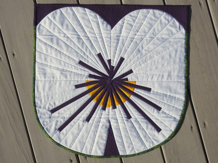 Pansy Challenge Mini Quilt