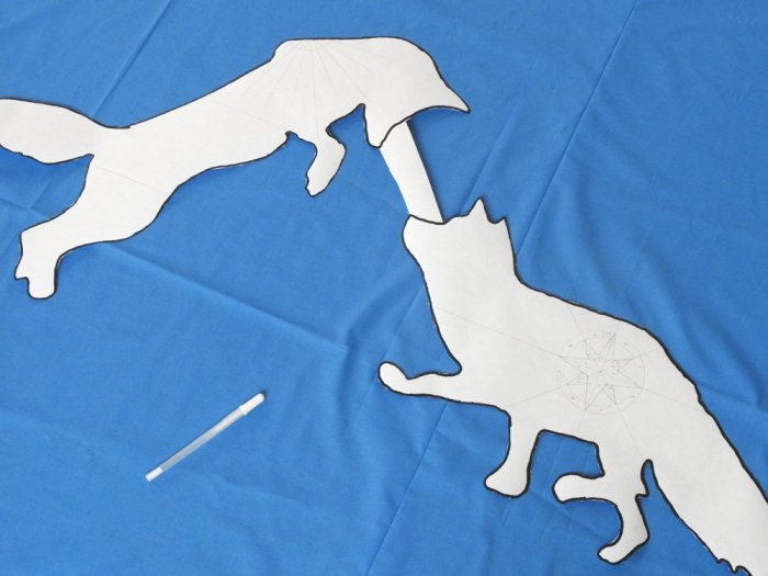 Fox Wholecloth Quilt - Positioning Foxes