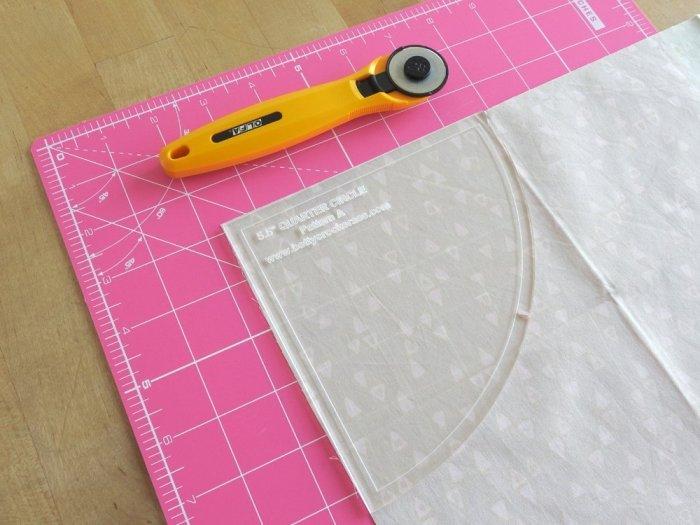 Quarter Arch Tutorial - Cut Second Background Fabric Piece