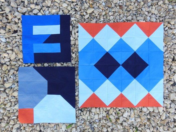 First Three Group Quilt Blocks