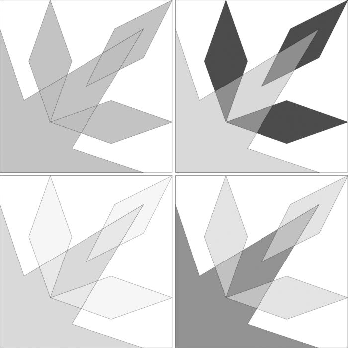 Sparkler Block: Alternate Colorways - Grayscale