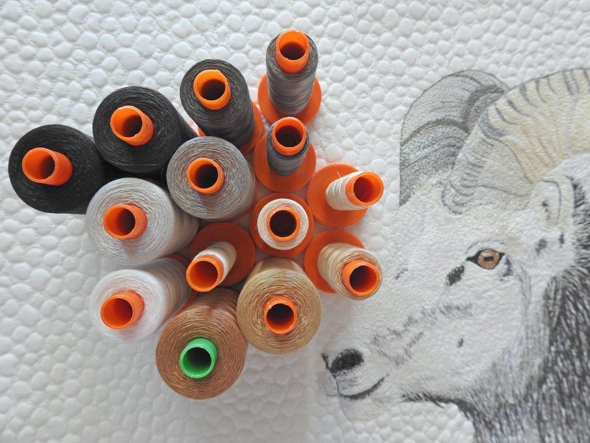 Stone Sheep Mini Quilt - Aurifil Thread