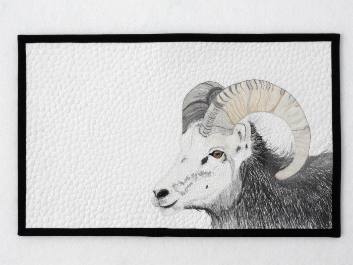 Stone Sheep Mini Quilt