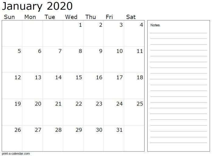 Monthly Calendars from print-a-calendar.com