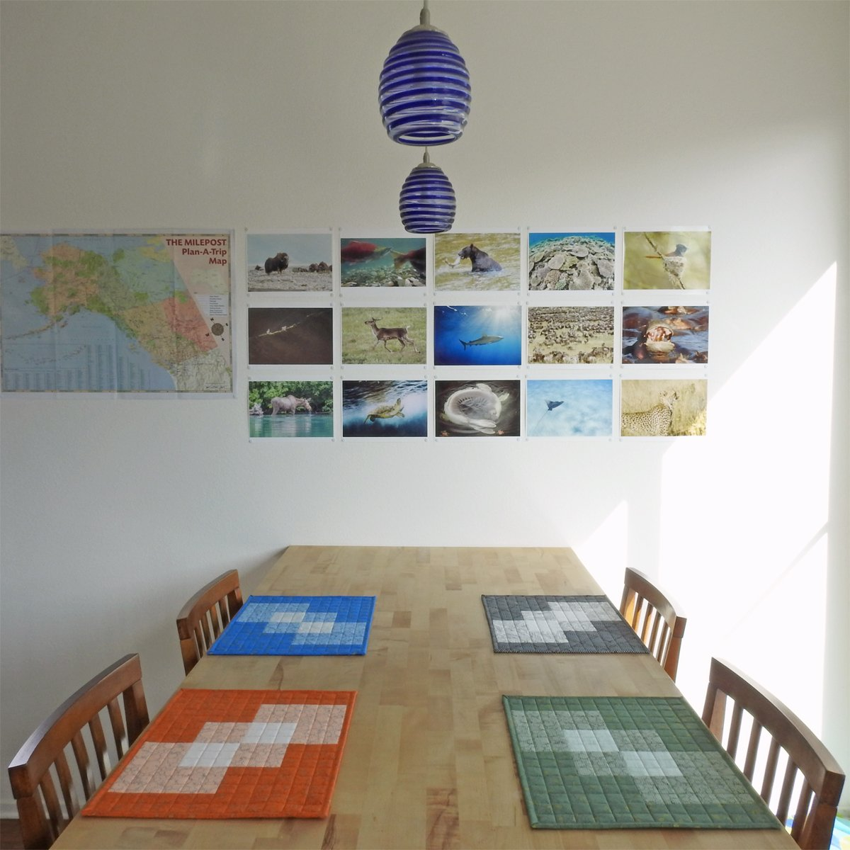 Tumbling Transparency Placemats