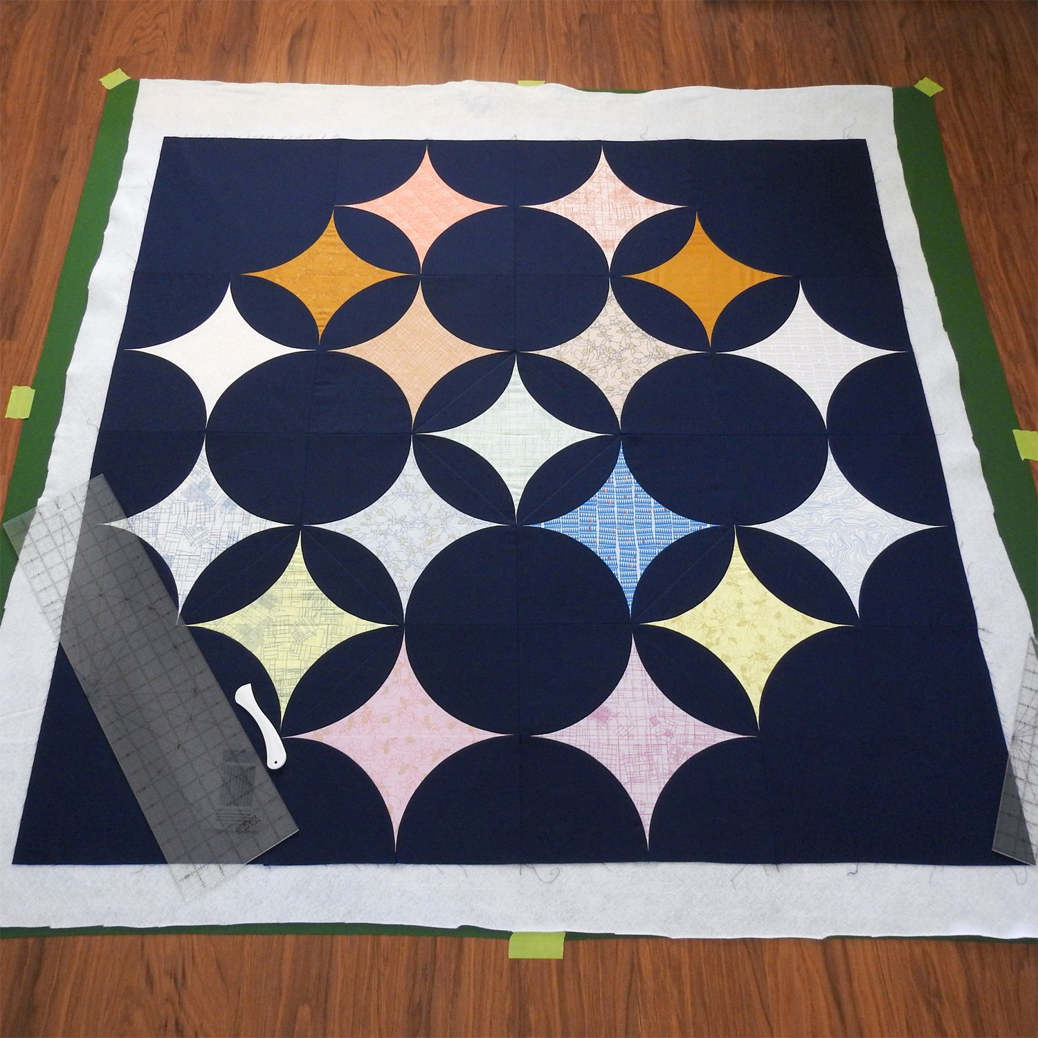 Sky Full of Stars - Mapping Out Quilting Reference Lines