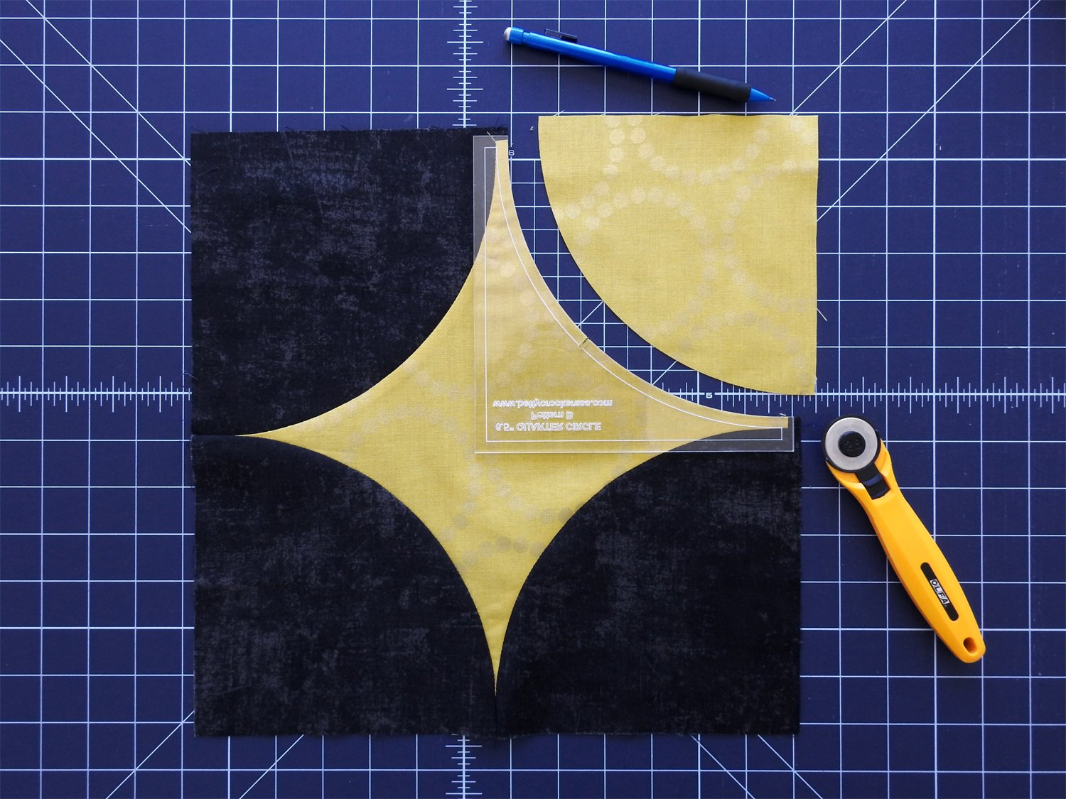 Cut and Prepare Fourth Curve in Star Fabric