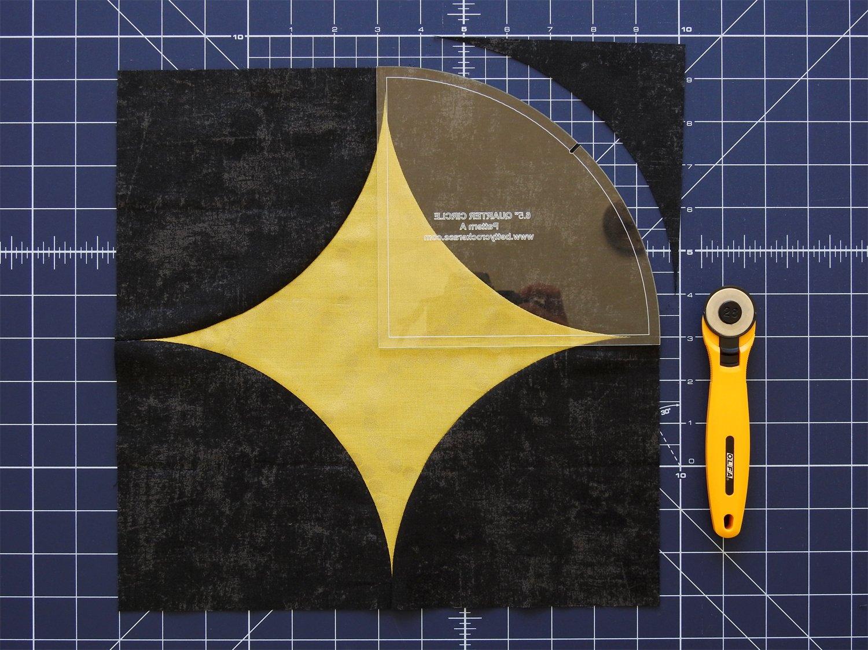 Cutting First Background Block Curve