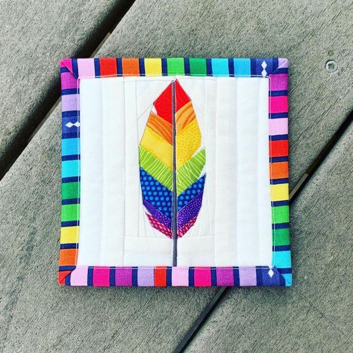 Rainbow Mini Mini Quilt