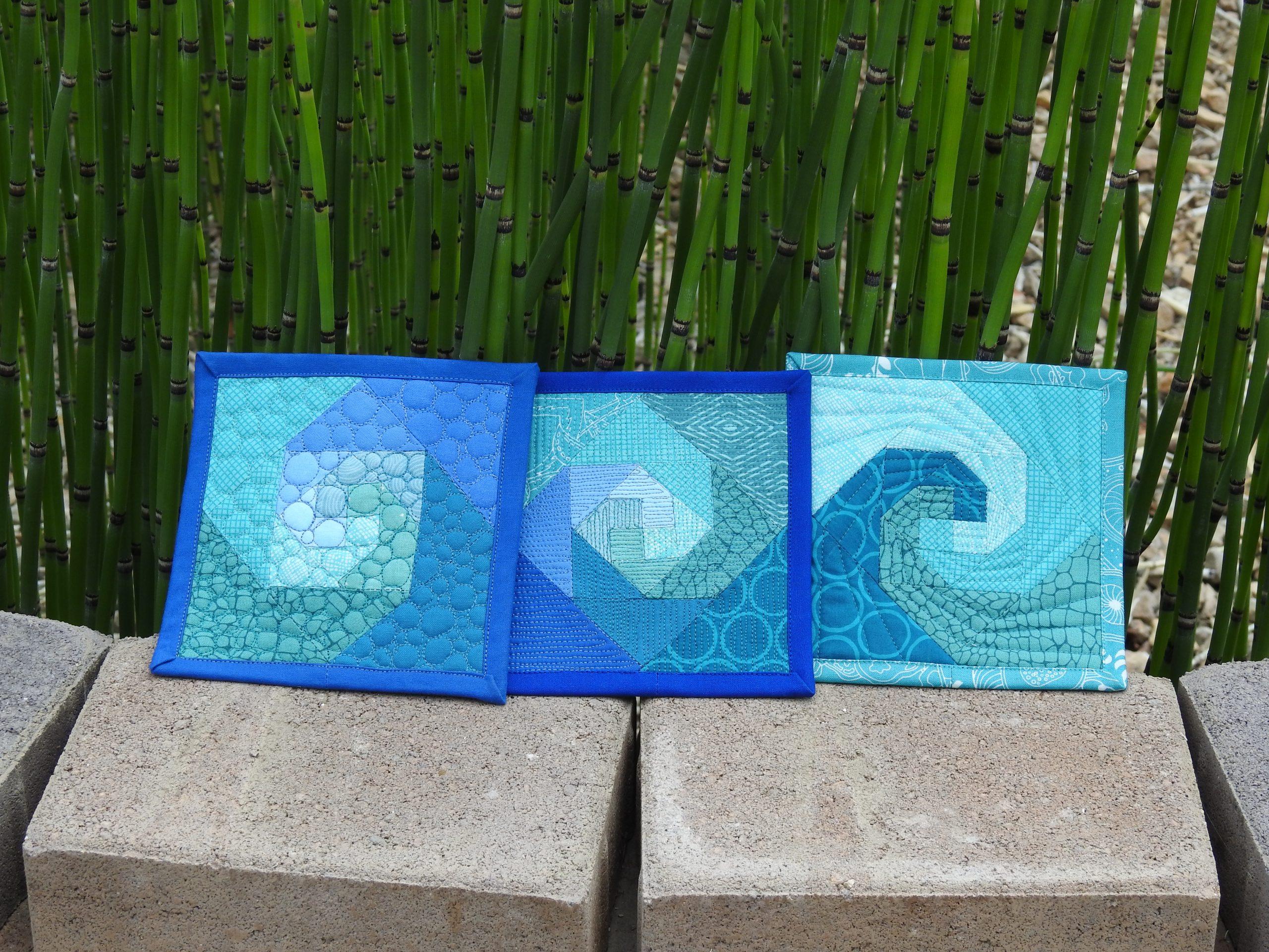 Snail Trail Mini Mini Quilts