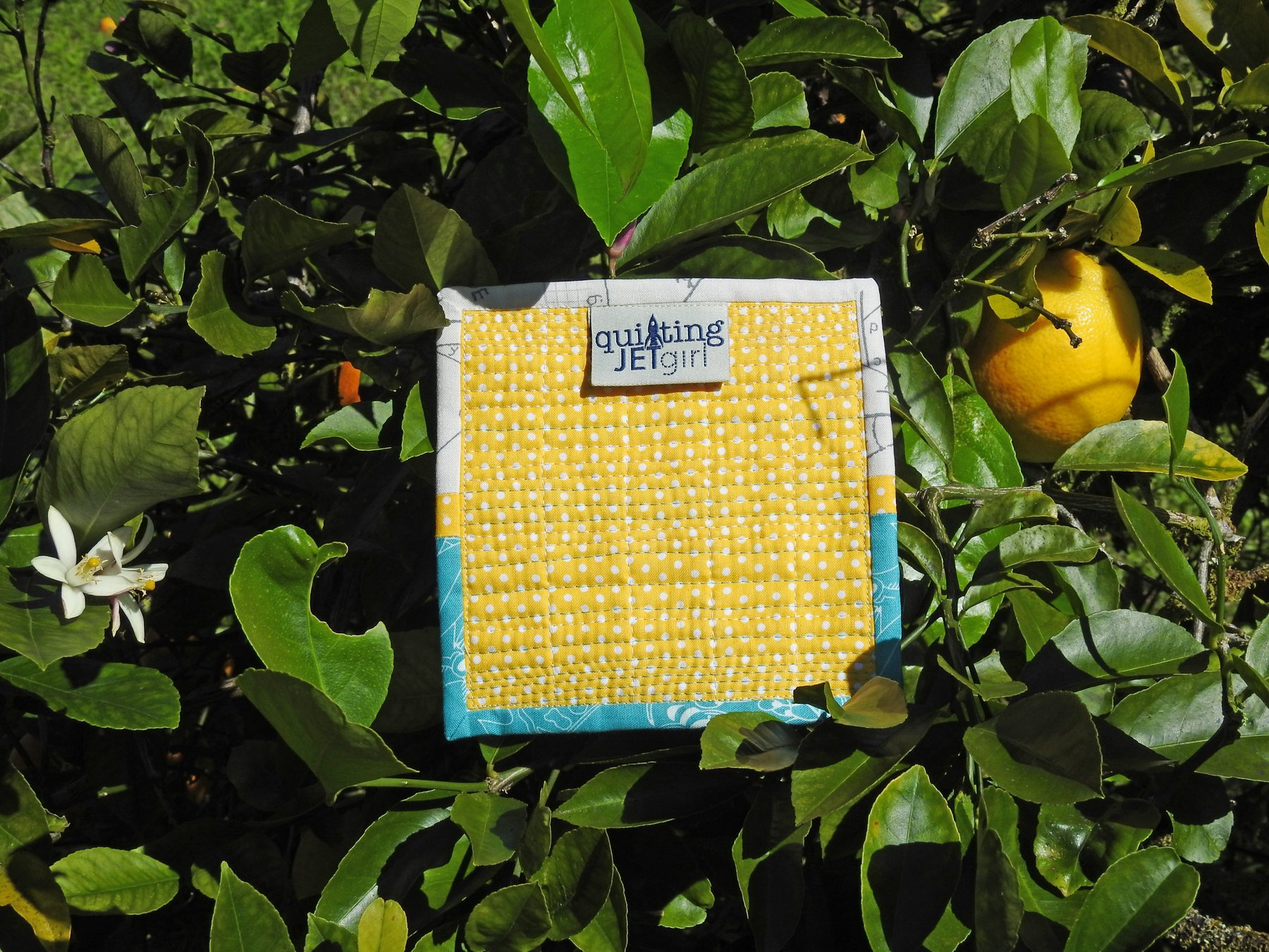 Cheery Mini Quilt - Quilt Back