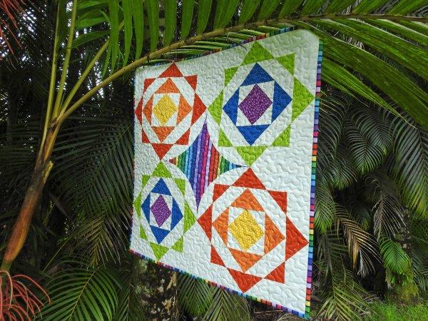 Bokeh QAL - Mini Quilt Finish