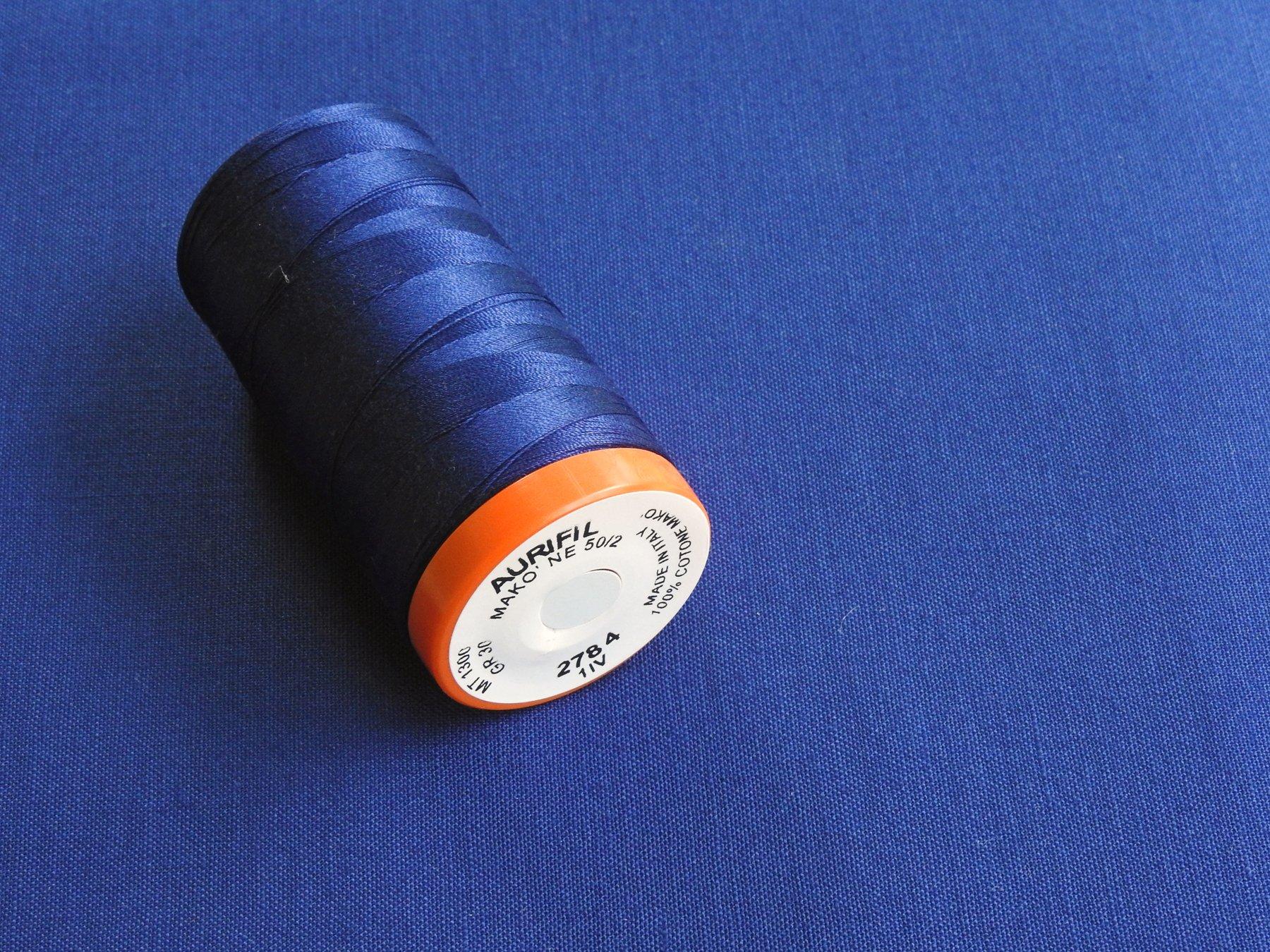 Stash Fabrics - Pulsar Backing (Kona Cotton Nightfall) and Matching Aurifil Thread from Red Rock Threads
