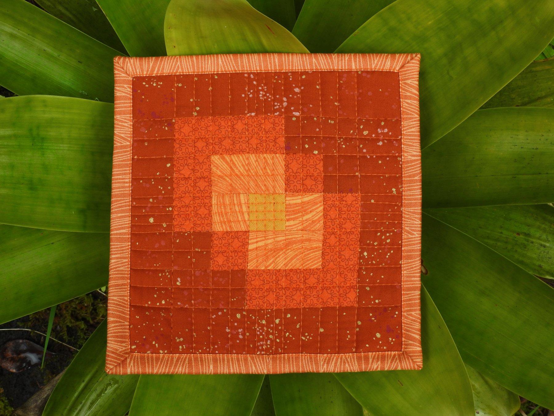 Orange Transparency Mini Mini Quilt
