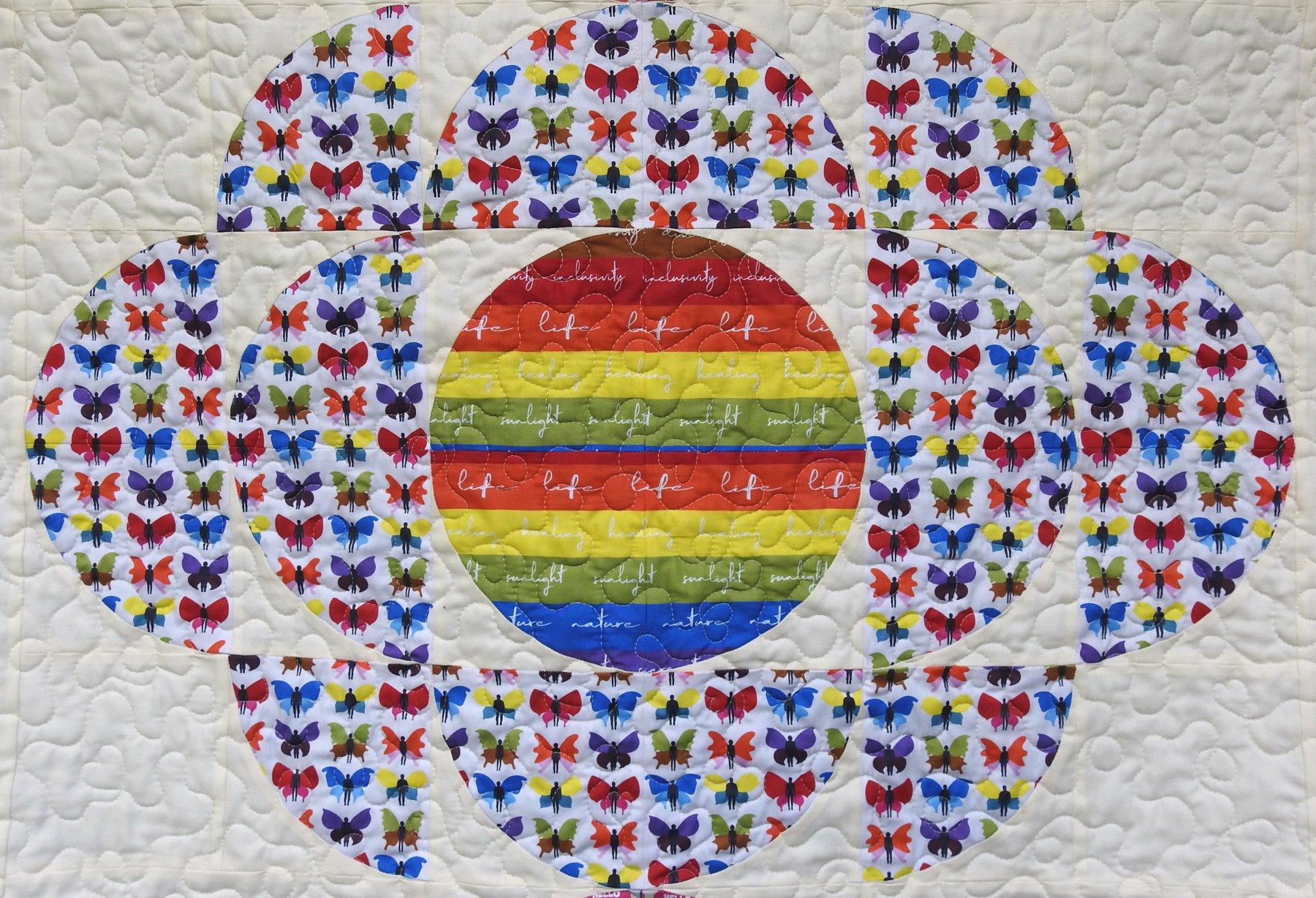 Love is Love Bonus Quilt - Piecing Detail