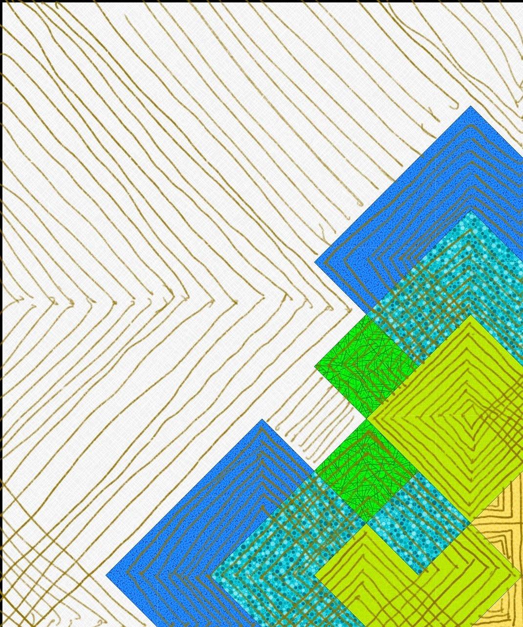 Planview Quilting Plan - Upper Left Quadrant