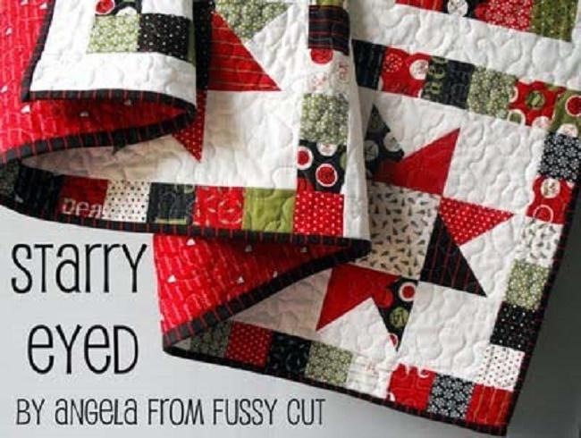 Free Starry Eyed Quilt tutorial by Angela