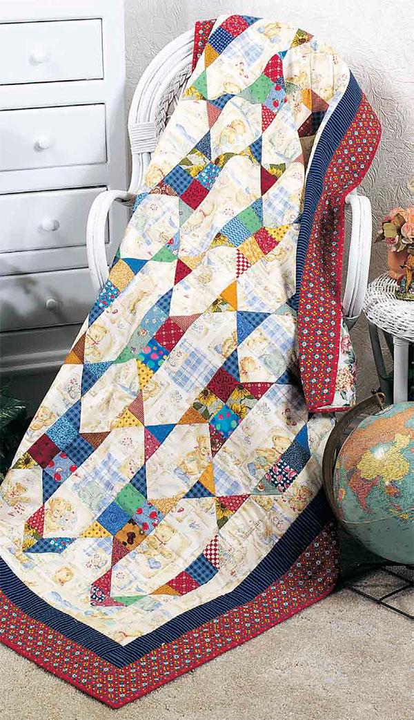 Scrap-Chain Quilt Pattern free