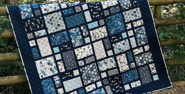 Easy Quilt Rich Blues pattern