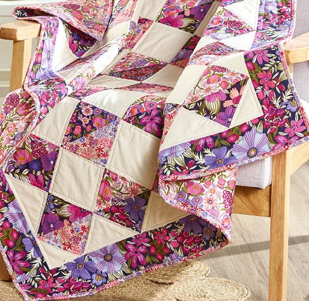 Viola on point quilt pattern