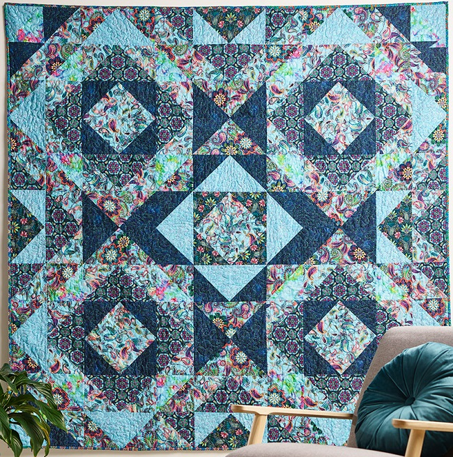 Blooming Paisley Quilt