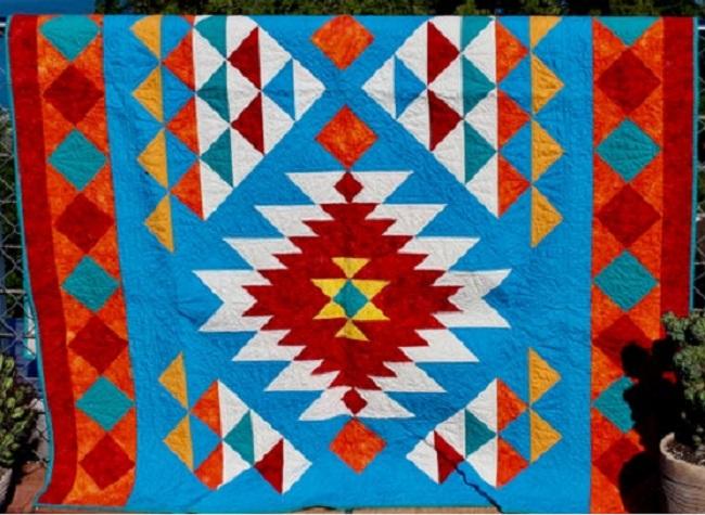 Navajo quilting pattern