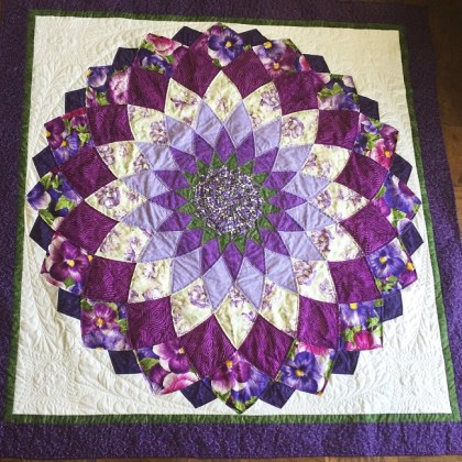 Giant Dhalia Quilt Pattern Free